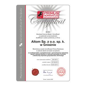 Certyfikat Primus Nominatus