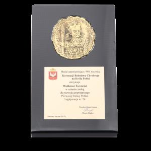 Medal upamiętniający 990. rocznicę Bolesława Chrobrego na Króla Polski