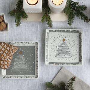 Talerz deserowy świąteczny