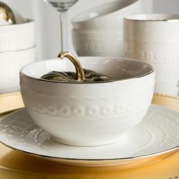 Salaterka porcelanowa LAURA ZŁOTA LINIA 13 cm