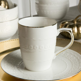 Kubek do kawy i herbaty LAURA ZŁOTA LINIA 320 ml