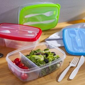 Lunch box/ śniadaniówka ze sztućcami Great Plastic 1,5 L