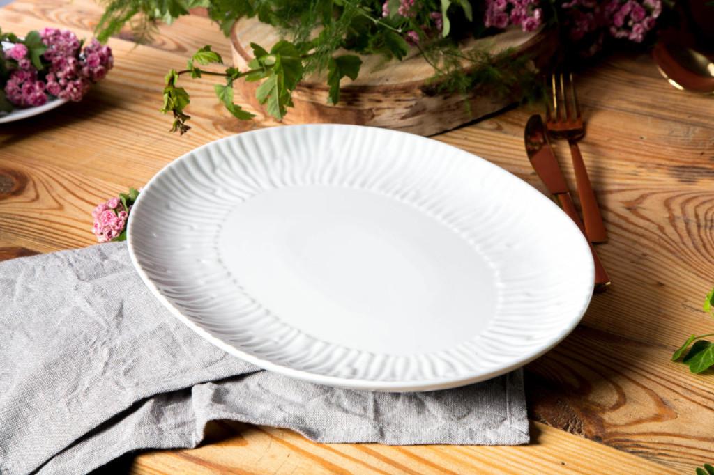 Półmisek owalny Porcelana MariaPaula Natura 33 cm