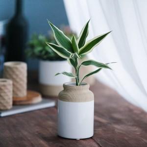 Wazon porcelanowy na kwiaty Altom Design drewno 15 cm