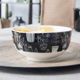 Miska salaterka porcelanowa Altom Design Cactus Black
