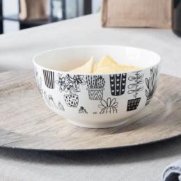 Miska salaterka porcelanowa Altom Design Cactus white 14 cm