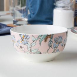 Miska salaterka porcelanowa Altom Design Flower Jeans 13 cm morelowa