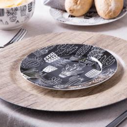 Talerzyk deserowy porcelanowy Altom Design Cactus Black 19 cm