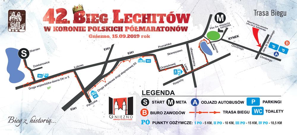 Trasa 42 Bieg Lechitów 2019