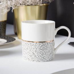 Kubek porcelanowy prosty Altom Design Granit 340 ml biały