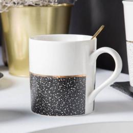 Kubek porcelanowy prosty Altom Design Granit 340 ml czarny