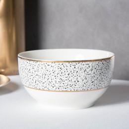 Miska salarerka porcelanowa Altom Design granit 12,5 cm biała