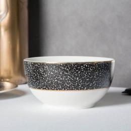 Miska-salaterka porcelanowa Altom Design Granit 12,5 cm czarna