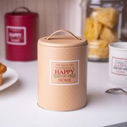 Puszka pojemnik na produkty sypkie Altom Design Happy Home okrągła z uchwytem