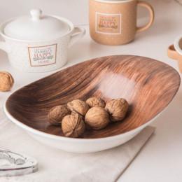 Salaterka/miska porcelanowa nieregularna Altom Design Happy Home dekoracja drewno