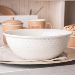 Salaterka/miska porcelanowa okrągła Altom Design Happy Home 21,5 cm kremowa w kropki