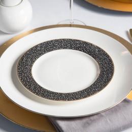 Talerz deserowy porcelanowy Altom Design Granit 20 cm czarny