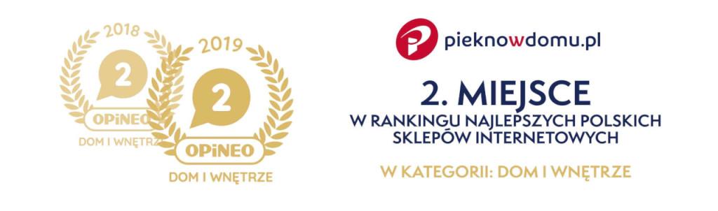 Ranking opineo sklep internetowy pieknowdomu.pl drugie miejsce w kategorii dom i wnętrze