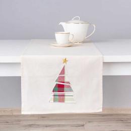 Bieżnik na stół bawełniany świąteczny Altom Design Victoria Red dekoracja choinka 40×140 cm