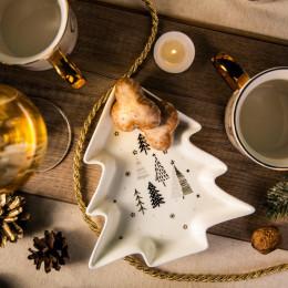 Choinka naczynie,talerz, półmisek porcelanowy święta Boże Narodzenie Altom Design Nordic Forest