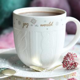 Duży kubek porcelanowy świąteczny Boże Narodzenie Altom Design Ballerina Winter 600 ml