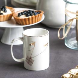 Kubek porcelanowy do kawy i herbaty świąteczny Boże Narodzenie Altom Design Angel 320 ml