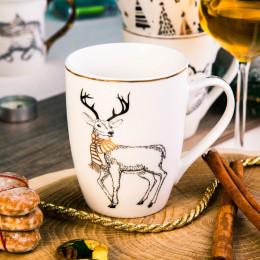 Kubek porcelanowy święta Boże Narodzenie Altom Design Nordic Forest renifer