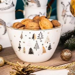 Salaterka/miseczka porcelanowa święta Boże Narodzenie Altom Design Nordic Forest 14 cm