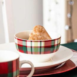 Salaterka,miseczka porcelanowa święta Boże Narodzenie Altom Design Victoria Red 13 cm