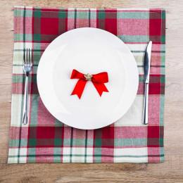 Serweta na stół bawełniany świąteczny Altom Design Victoria Red 40×40
