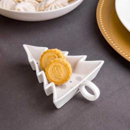 Talerz/półmisek/salaterka naczynie do dipów porcelana święta Boże Narodzenie Altom Design Ballerina Winter Choinka 14 cm