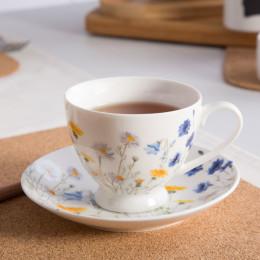 filiżanka do kawy i herbaty ze spodkiem porcelana Altom Design Chabrt 200 ml