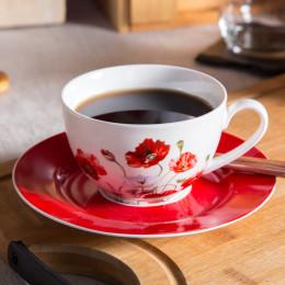 filiżanka do kawy i herbaty ze spodkiem porcelana Altom Design Maki 200 ml