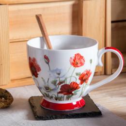filiżanka jumbo do kawy i herbaty porcelanowa Altom Design Maki 400 ml