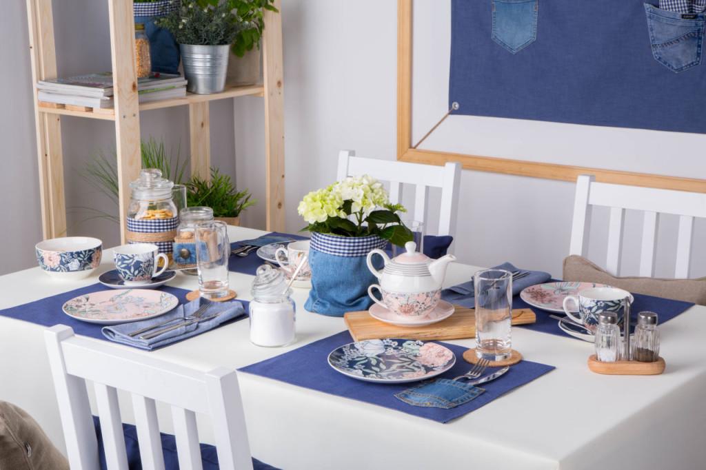 Flower Jeans kolekcja porcelany śniadaniowej od Altom Design